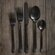 DwellStudio 5 Piece Onyx Cutlery Set in Black