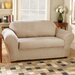 Stretch Suede Separate Seat Loveseat Slipcover