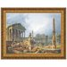 Architectural Capriccio with Obelisk Replica Painting Canvas Art