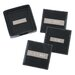2&quot; Engraved Plate Square Coasters in Black
