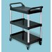 Food Service &amp; Utility Cart with Casters and Aluminum Uprights