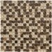 "Crystal Stone II 12"" x 12"" Glass Square Mosaic in Espresso"