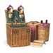 Vino Wine & Cheese Picnic Basket in Pine Green