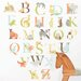 Wall Art Alphabet Zoo Wall Decal Kit