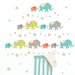 Wall Art Tag Along Elephants Wall Decal Kit