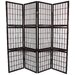 65&quot; Window Pane Room Divider with Shelf in Rosewood