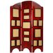 "67"" Arc Top Photo Display Room Divider in Rosewood"