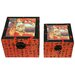 Flying Emperor Storage Box in Red (Set of 2)