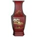 "14"" Hexagonal Vase in Red"