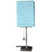 17 Inch Yoko Lamp in Aqua Blue Shade