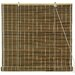 Burnt Bamboo Roll Up Blinds in Olive Green