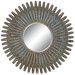 Coronet Round Wall Mirror in Antique Gold