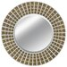 Round Robin Wall Mirror in Rustic Silver Gold