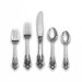 Grande Baroque 66 Piece Dinner Flatware Set with 12 Dinner Flatware Sets