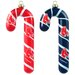 MLB Blown Glass Candy Cane Set