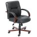 Mid-Back Italian Leather Office Chair