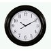 Indoor/Outdoor Clock in Black Gloss