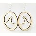 Wave in Circle Earrings