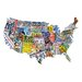 License Plates USA Shaped Puzzle
