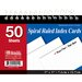 Spiral Bound Ruled White Index Cards