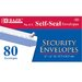 80 Ct. Self-Seal Security Envelopes