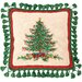 Classic Christmas Needlepoint Pillow