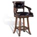 Windsor Swivel Bar Stool in Distressed Medium Oak