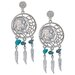 Dream Catcher Buffalo Nickel Post Earrings