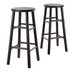 "Bevel Seat 30"" Bar Stool in Espresso"