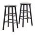 "Bevel Seat 24"" Counter Stool in Espresso (Set of 2)"
