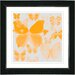 """Orange Butterfly Montage"" Framed Fine Art Giclee Print"