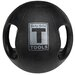 18 lbs Dual Grip Medicine Balls in Black