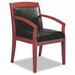 Leather Back Mercado Series Wood Office Chair