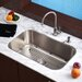 "Stainless Steel Undermount 30"" Single Bowl Kitchen Sink with 14"" Kitchen Faucet and Soap Dispenser"