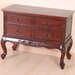 Queen Anne Wooden 4 Drawer Console