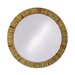 Serenity Round Framed Mirror in Faux Marble