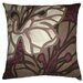 Flora 20 x 20 Pillow in Brown/Eggplant