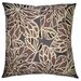 Flora 18 x 18 Pillow in Cocoa/Gray