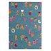 Fantasia Alphabet Blue Kids Rug