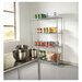 "Four-shelf 48"" W x 18"" D Industrial Wire Shelving Starter Kit"