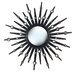 Sunburst Wall Mirror in Gloss Black with Mirror Accents