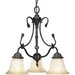Timberbrook 3 Light Down Chandelier