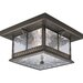 Aberdeen Outdoor Flush Mount in Antique Bronze