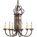 Drayton Hall 6 Light Candle Chandelier