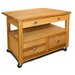 The Grand Americana XL Workcenter Kitchen Cart with Butcher Block Top