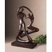 Ballroom Dancers Statue in Distressed Chestnut Brown
