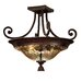 Elba 2 Light Semi Flush Mount