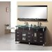 "Rocco 61"" Double Sink Bathroom Vanity Set in Espresso"