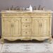 "Tarragona Double 58"" Bathroom Vanity in Antique Ivory"