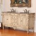 "Alexandria Double 67"" Bathroom Vanity in Antique Ivory"